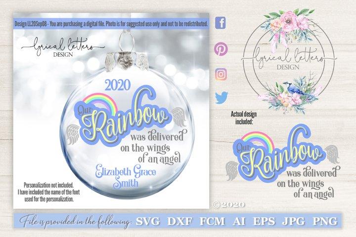 Rainbow Baby Infant Loss and Birth SVG Cut File LL20Sep08