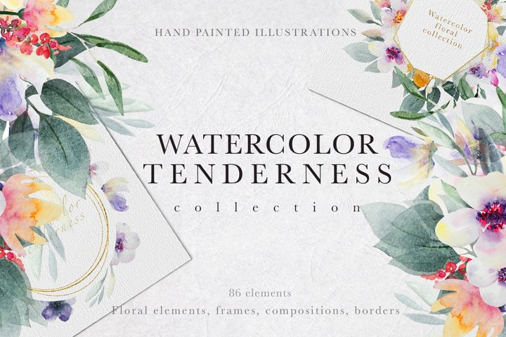 Watercolor tenderness collection