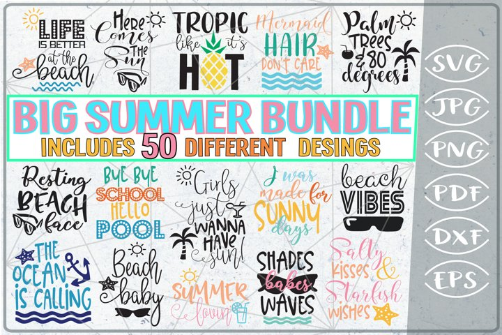 Big Summer Bundle of 50 SVG Cutting Files - Summer Shirt SVG