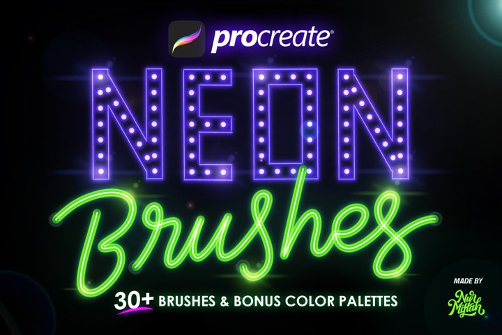 Procreate Neon Brushes