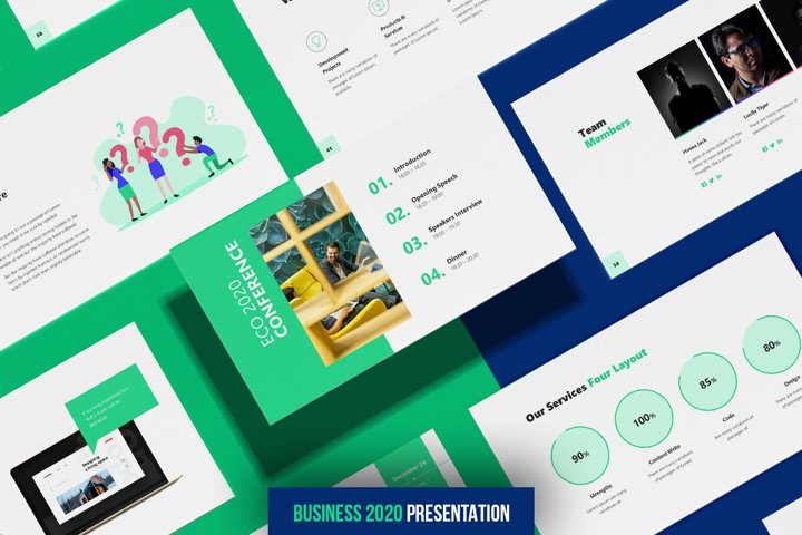 Business 2020 - Smooth Animated Powerpoint Template