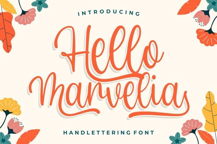 Hello Marvelia - Handlettering Font