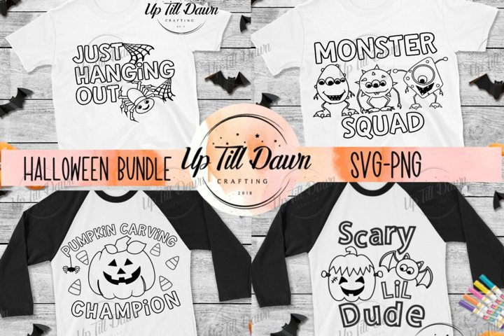 Halloween Coloring SVG Bundle