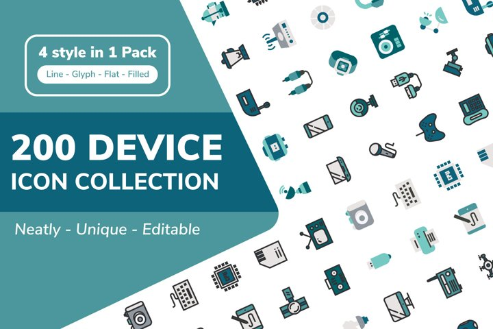 200 Device and Electronic Icon