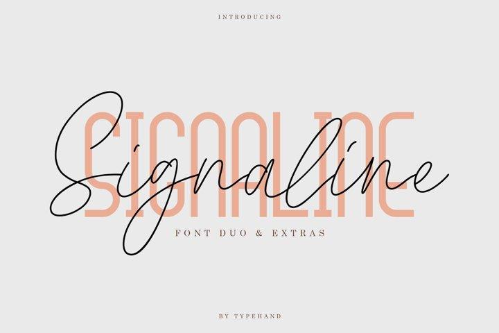 Signaline // Font Duo Extras