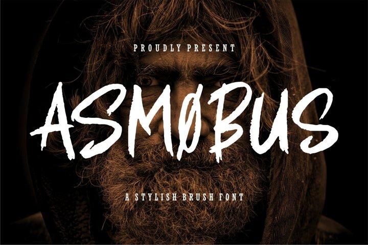 Asmobus - A Stylish Brush Font