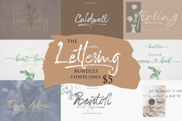 The Lettering Bundles 5 Fonts Only $5