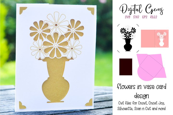 Vase of flowers card! Now compatible with the Cricut Joy!!
