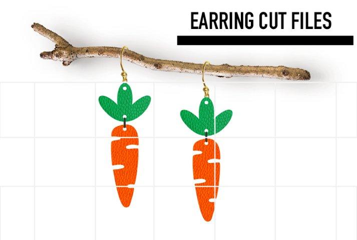 Easter Earrings Svg, Carrot Earrings Svg