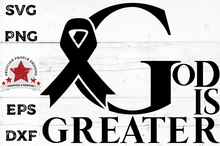 God is Greater SVG Heal Breast Cancer Awareness Ribbon