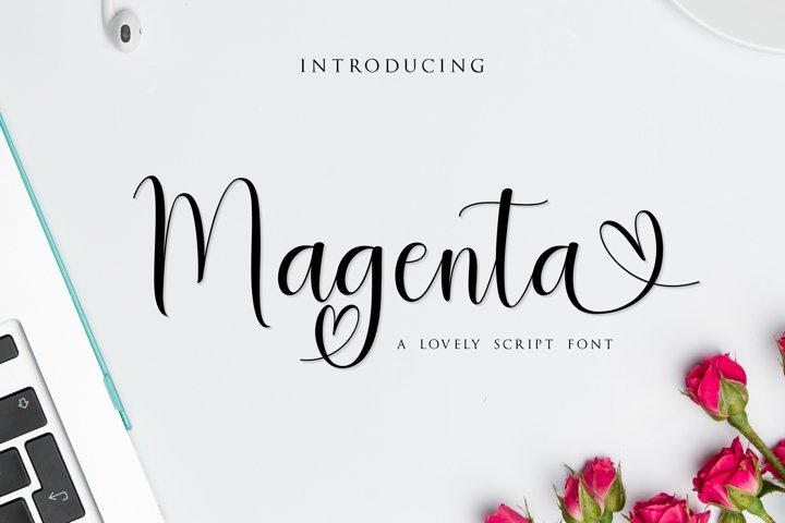 Magenta Script Font