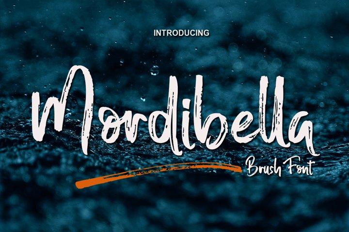 Mordibella - Brush Font