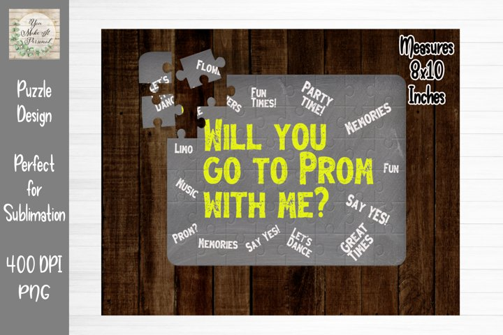 Prom Proposal, Perfect for Sublimating Puzzles