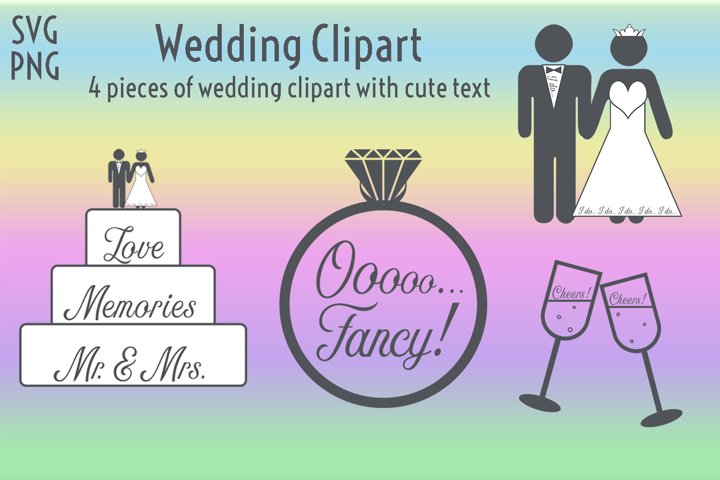 Wedding Clipart - 4 Pieces