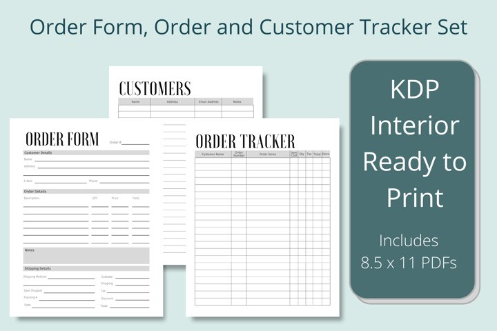Business Order Form, Customer and Order Trackers