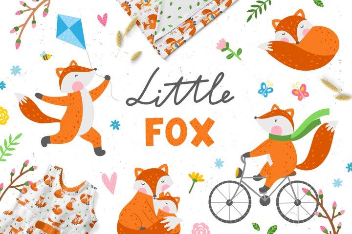 Little Fox Clipart & Patterns