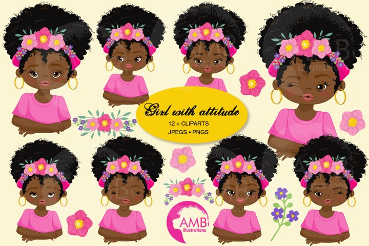 Girls with attitude, African American Girls AMB-2784