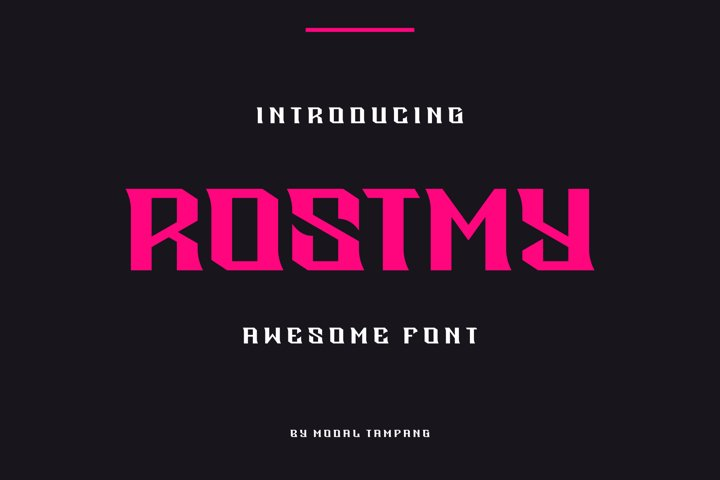 Rostmy Font
