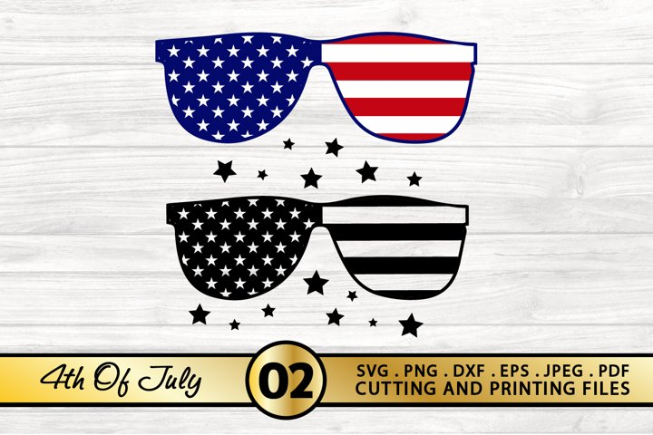 American Flag SVG 4th of July SVG PNG DXF EPS Sunglasses SVG