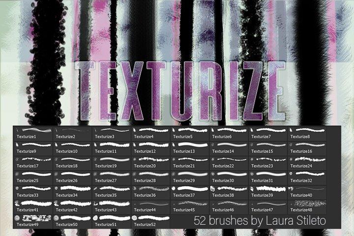 TEXTURIZE --52 Photoshop brushes