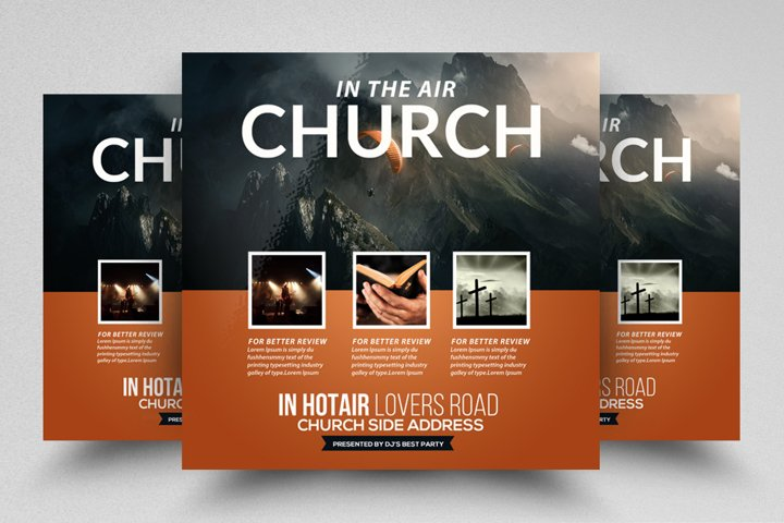 Church Event Square Flyer Template