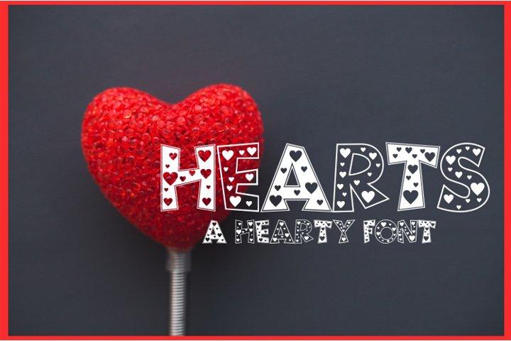 Hearts Font   An All Caps Fun Font Full of Hearts