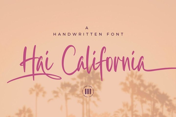 Hai California - A Handwritten Font