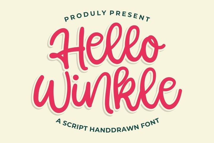 Hello Winkle - Handlettering Font