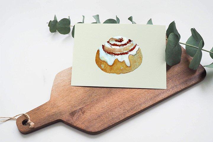 Watercolor Roll cake