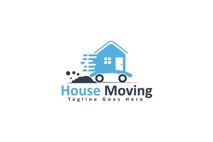 House moving company logo design.