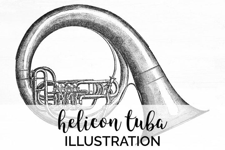 Tuba - Vintage Musical Instruments Helicon Tuba