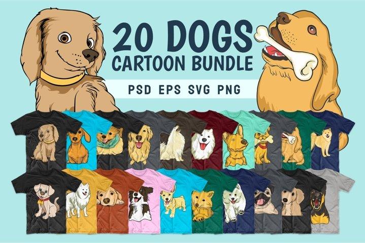Dog bundle SVG t-shirt designs Dogs bundles PNG Vector