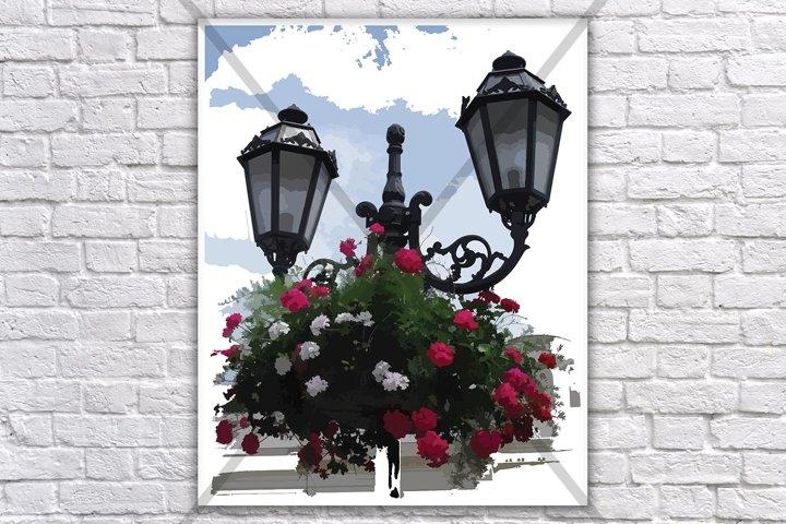 Neutral Art, Headlight Print, Street Print, Flower Print, Sky print, Wall prints, Green Print, Digital Art, Drawing Illustration Art