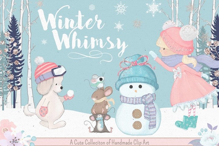 Winter Whimsy Clipart Collection