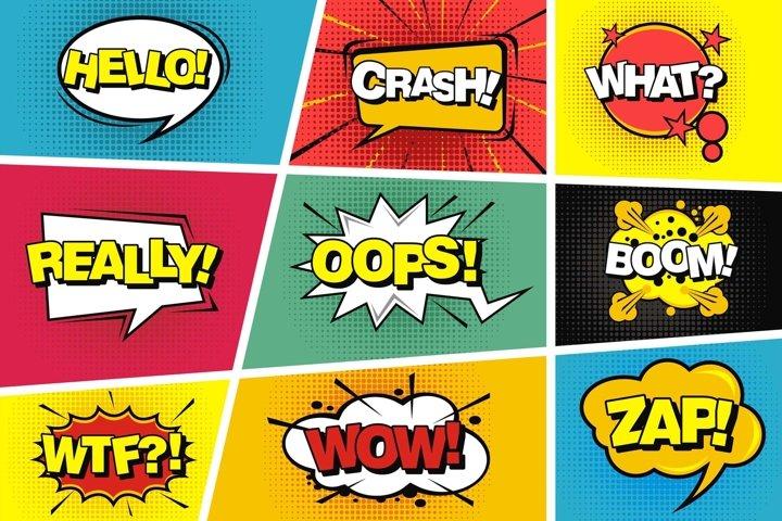 Comic speech pop art style