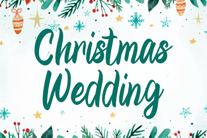 Chrhistmasm Wedding | Beautiful Christmas Font