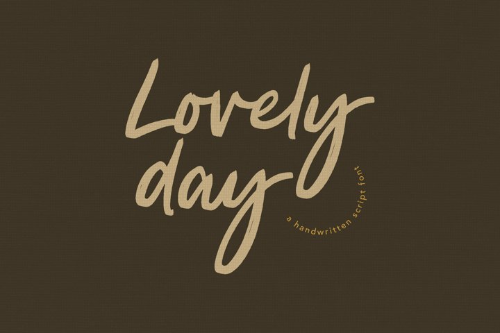Lovely Day Script Handwritten Font