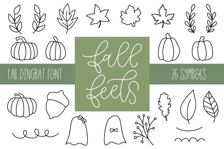 Fall Feels, Fall Doodle Font