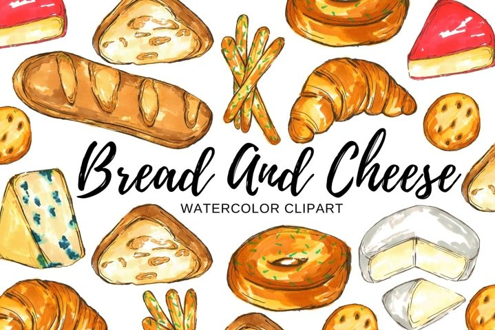 Bread and cheese clipart