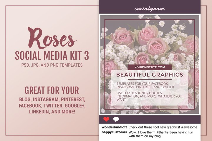 Roses Social Media Kit 3