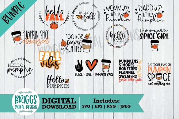 Giant Fall SVG Bundle | Pumpkin Spice Cut Files | Fall Shirt