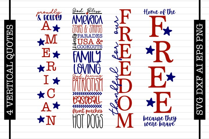 4 Porch Sign Quotes - 4th Of July SVG Files