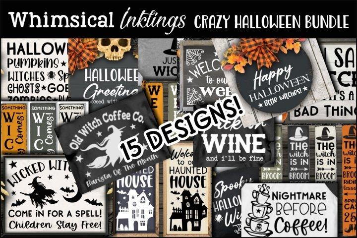 Crazy Halloween SVG Bundle