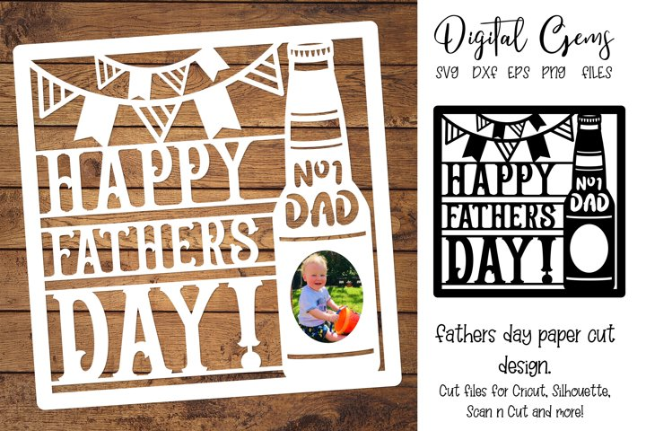 Fathers day paper cut design SVG / DXF / EPS / PNG files