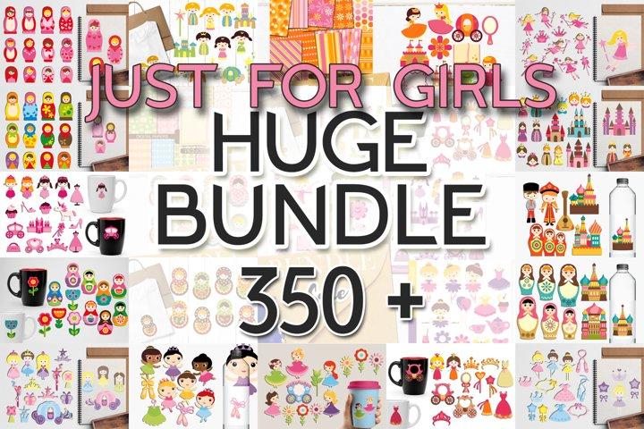 Just For Girls Clip Art Illustrations Huge Bundle