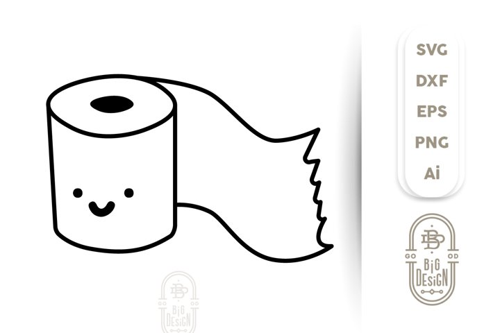 Toilet Paper SVG File - Cute Toilet Paper Roll /Toilet Humor
