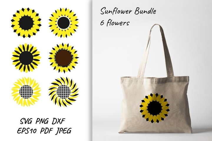Sunflower bundle SVG. Design elements