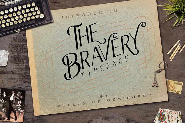 The Bravery Typeface - Free Font of The Week Font