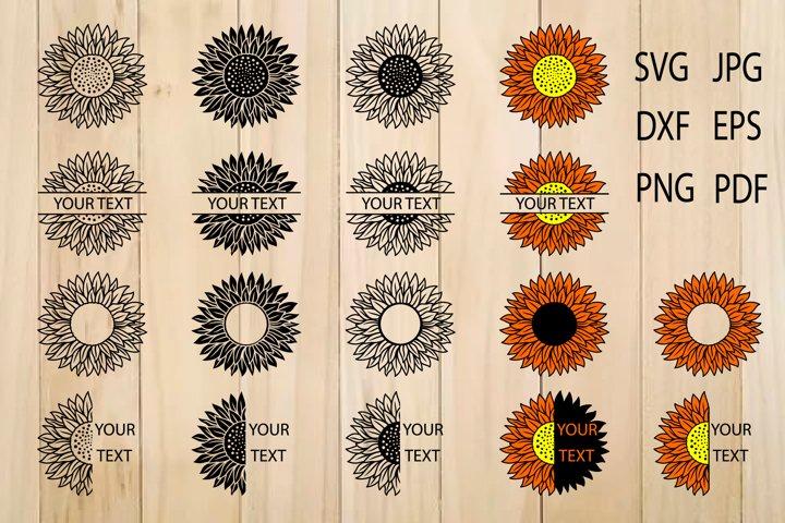 Sunflower SVG, Sunflower Clipart, Flower svg, Sunflowers svg