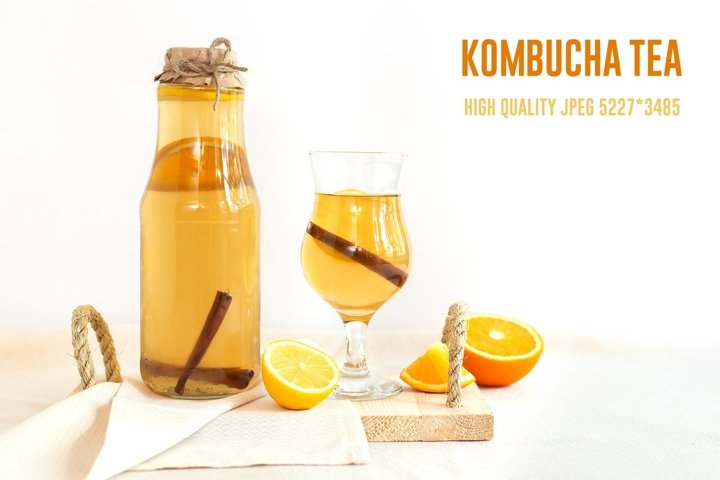 Homemade fermented raw kombucha tea